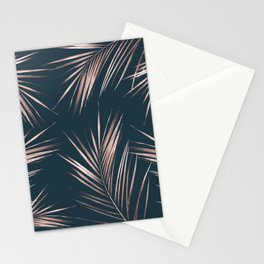 Rose Gold Pink Palm Leaves Stationery Cards