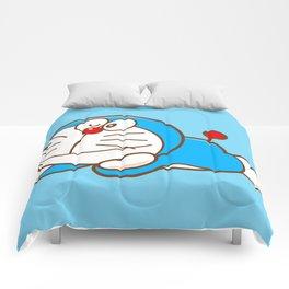 Doraemon cute smile Comforters