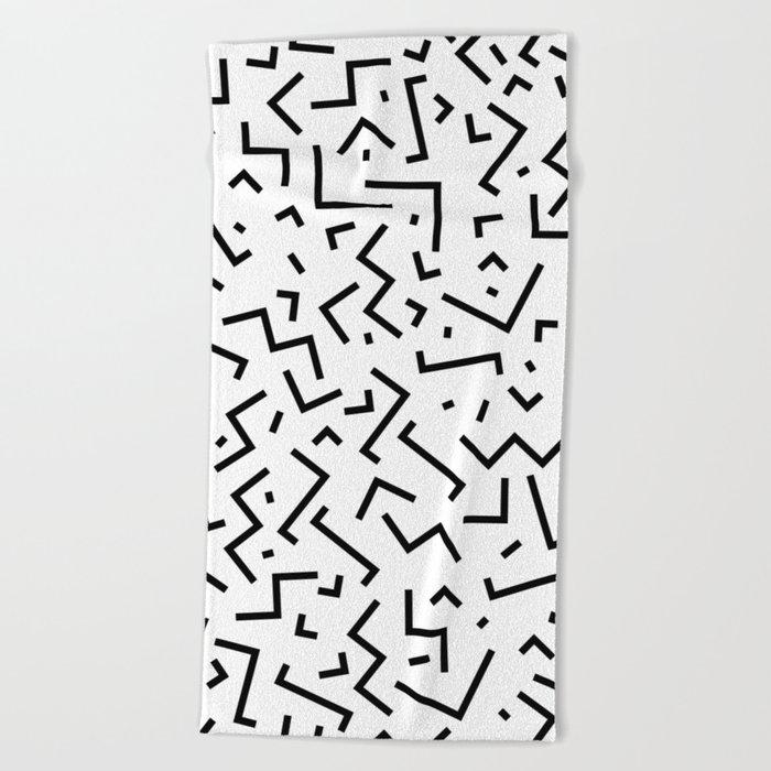 Memphis pattern 30 Beach Towel