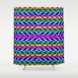 Rainbow Scaffolding Shower Curtain