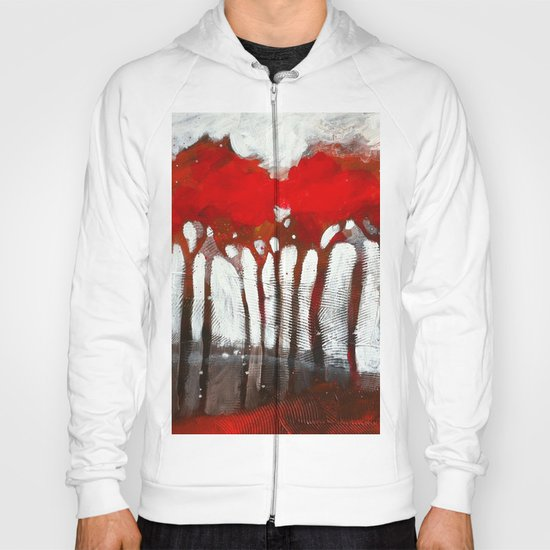 Red trees Hoody