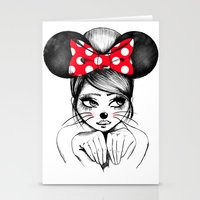 minnie mouse Stationery Cards featuring Minnie by theavengerbutterfly