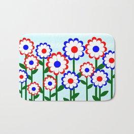 Retro Summer Flowers Bath Mat