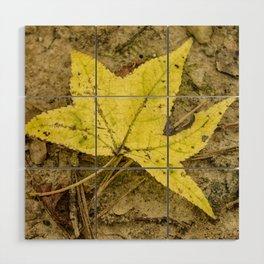 The Yellow Leaf Wood Wall Art