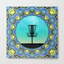 Disc Golf Abstract Basket 5 Metal Print