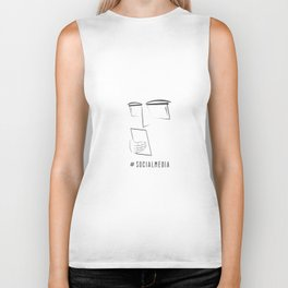 Hashtag Social Media with Geek Character Biker Tank