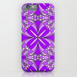 Purple Stained Glass iPhone Case