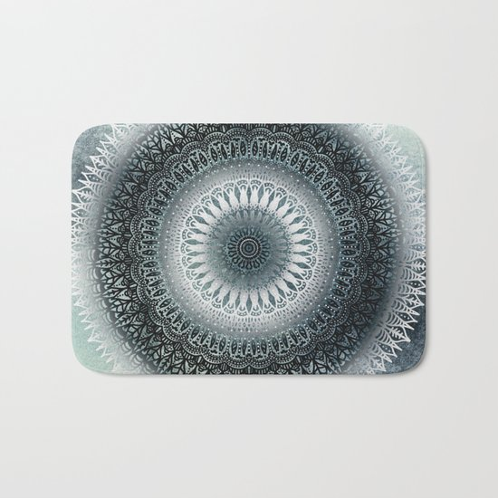 WINTER LEAVES MANDALA Bath Mat