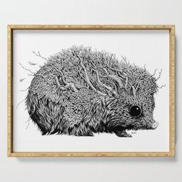 Leaf Hedgehog Serving Tray