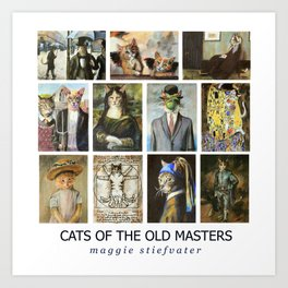 Cats of the Old Masters Art Print