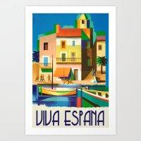 Viva Espana Vintage Travel Art Print