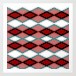 Diamond Patten Design Art Print