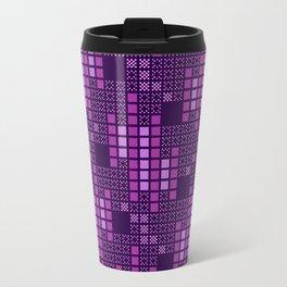 BRIXHAM, VINTAGE RETRO SQUARES: PASSION FOR PURPLE Travel Mug