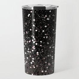 Blush Gray Black Lady Glitter #2 #shiny #decor #art #society6 Travel Mug