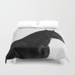 Black beauty Friesian stallion Duvet Cover
