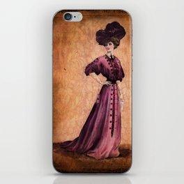 Girl in purple dress, Edwardian style iPhone Skin