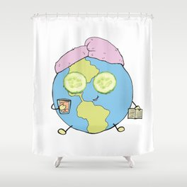 She's Chilling Shower Curtain