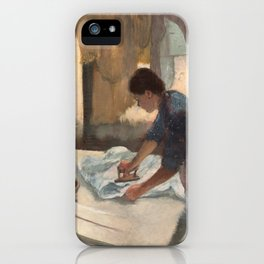 Edgar Degas, Woman Ironing, 1887 iPhone Case