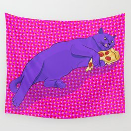 Paws off my pizza! Wall Tapestry