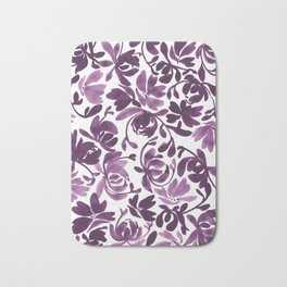Purple Peonies and Poppies Bath Mat