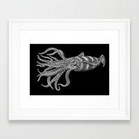 squid Framed Art Prints featuring Squid by Tim Jeffs Art