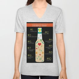 The Benefits of Drinking Beer Unisex V-Neck