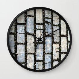 Blue Street Grid Wall Clock