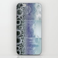 sunflowers iPhone & iPod Skins featuring sunflowers by Bekim ART