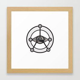 Everything moves in circles Framed Art Print