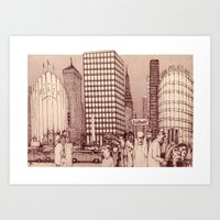 metropolis Art Prints featuring Metropolis by Steve Bonello