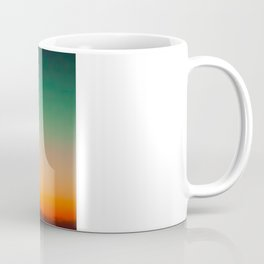 Green and Yellow Magic Dawn in the Sky (Vintage Nature Photography) Coffee Mug
