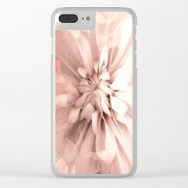 Floral Coral Abstract Flower Design Clear iPhone Case