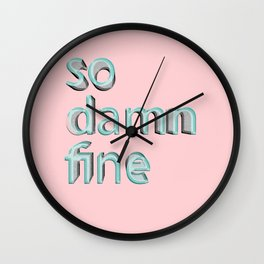So damn fine Wall Clock