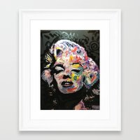 hollywood Framed Art Prints featuring Hollywood by Matt Pecson