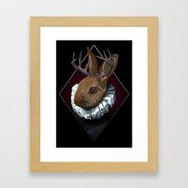 The Regal Jackalope Framed Art Print