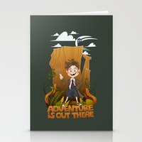adventure is out there Stationery Cards featuring Adventure by BlancaJP