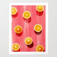 fruit Art Prints featuring fruit 5 by LEEMO