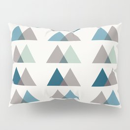 Color Theory in Blue and Ash Pillow Sham