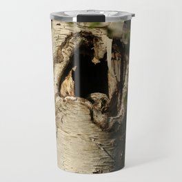 First baby barred owl to appear inside nest Travel Mug