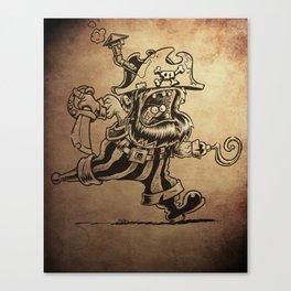 Steam powered Pirate Canvas Print