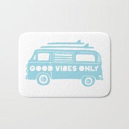 Good Vibes Only retro surfing Camper Van Bath Mat