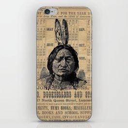 Sitting Bull Native American Chief  iPhone Skin