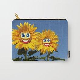 Sonnenblumenfrau und Sonnenblumenmann Carry-All Pouch