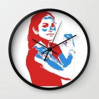 feminism Wall Clocks featuring Feminism by DebbieHughes
