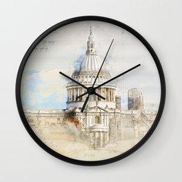 St. Pauls Cathedral,  London England Wall Clock