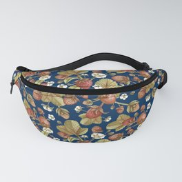 Strawberries Field (navy blue bg) Fanny Pack
