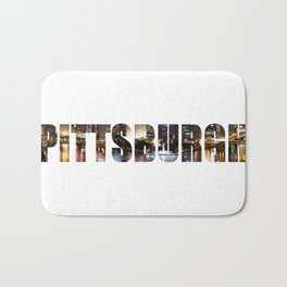 Pittsburgh at Night Bath Mat