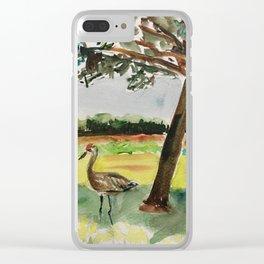 Sandhill cranes Clear iPhone Case