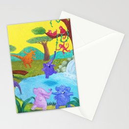 Having fun in the sun Stationery Cards