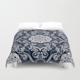 Centered Lace - Dark Duvet Cover